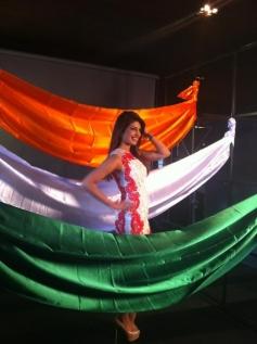 Priyanka Chopra poses at the Agenda Aaj Tak program