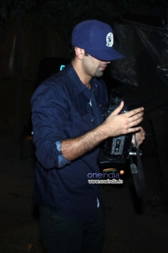 Ranbir Kapoor is seen stepping out of a late night party at Olive