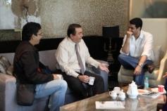 Randhir Kapoor on the sets of film Desi Magic