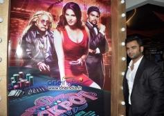 Sachiin Joshi poses during the Jackpot movie premiere