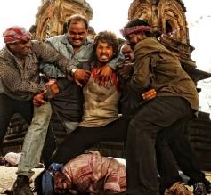 Shahid Kapoor in action still from film R... Rajkumar