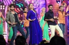Shahid, Sonakshi and Prabhu Deva performs during film R Rajkumar promotion at Bigg Boss 7