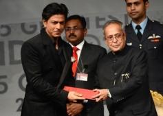 Shahrukh Khan honoured by Indian President
