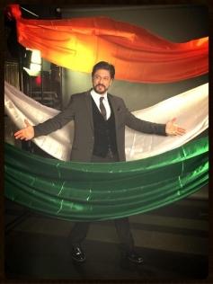 Shahrukh Khan poses during the Agenda Aaj Tak program