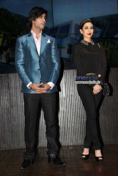 Shiv Darshan and Karisma Kapoor during the music launch of film Karle Pyaar Karle