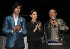 Shiv Darshan, Karisma Kapoor and Suneel Darshan during the music launch of film Karle Pyaar Karle