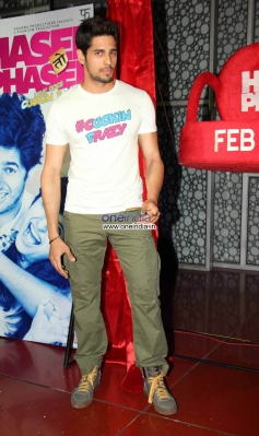 Sidharth Malhotra during his film Hasee Toh Phasee promotion