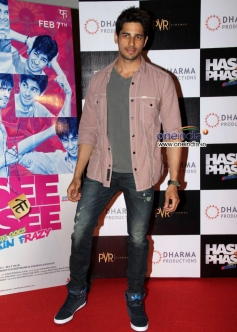 Sidharth Malhotra at Hasee Toh Phasee First Look Launched