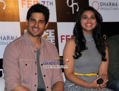Sidharth Malhotra and Parineeti Chopra at Hasee Toh Phasee First Look Launched