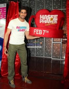 Sidharth Malhotra promotes his film Hasee Toh Phasee in Mumbai