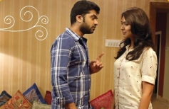 Silambarasan and Pallavi Subhash still from film Sattendru Maarudhu Vaanilai