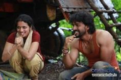 Sruthi Hariharan and Dhananjay in Kannada Movie Raate