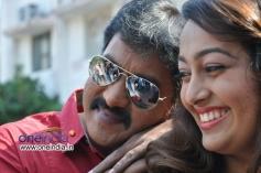 Sunil and Ester Noronha at Bheemavaram Bullodu Press Meet