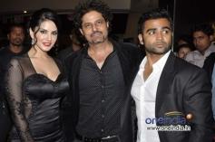 Sunny Leone and Sachiin Joshi during the Jackpot movie premiere