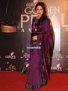 Tisca Chopra at Colors Tv 3rd Golden Petal Awards 2013