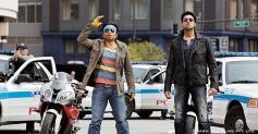 Uday Chopra and Abhishek Bachchan still from film Dhoom 3