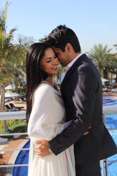 Veena Malik with hubby Asad at their wedding reception