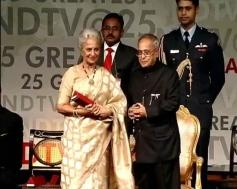 Waheeda Rahman honoured by Indian President