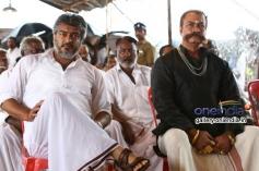 Ajith Kumar and Pradeep Rawat still from film Veeram