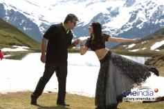 Ajith Kumar and Tamanna still from film Veeram