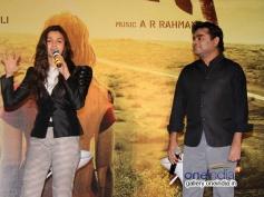 Alia Bhatt along with AR Rahman during the Highway film media interaction