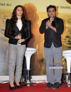 Alia Bhatt and AR Rahman at the Highway film media interaction