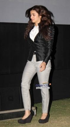 Alia Bhatt arrives during the Highway film media interaction