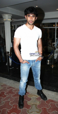Amit Sadh snapped at a bar launch