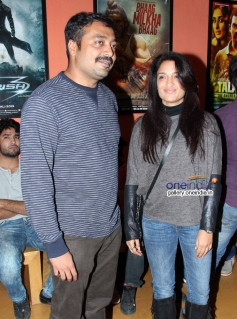 Anurag Kashyap and Sandhya Mridul at the special screening of American Hustle