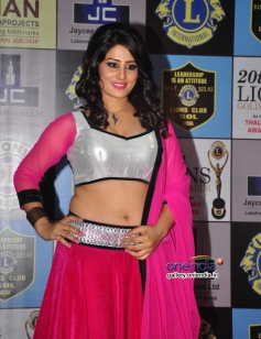 Arjumman Mughal poses during the 20th Lions Gold Awards 2014