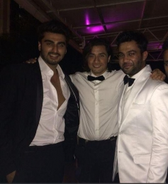 Arjun Kapoor and Ali Zafar at the Ali Abbas Zafar's birthday bash