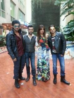 Arjun Kapoor, Priyanka Chopra and Ranveer Singh at the music launch of film Gunday