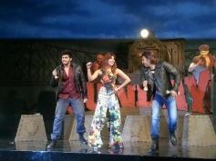 Arjun Kapoor, Priyanka Chopra and Ranveer Singh performs at the music launch of film Gunday