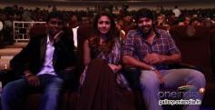 Atlee Kumar with Arya and Nayantara at the Raja Rani film 100 days celebration