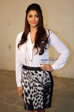 Daisy Shah poses during the Jai Ho film promotion at Mehboob Studio Bandra