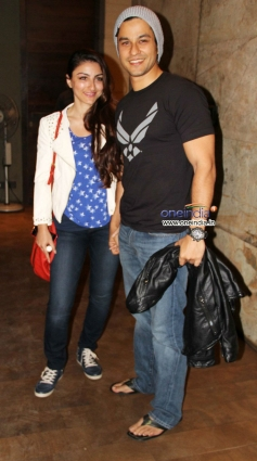 Soha Ali Khan along with her boyfriend Kunal Khemu at the special screening of Mr Joe B Carvalho