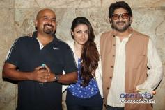 Soha Ali Khan and Arshad Warsi during the special screening of film Mr Joe B Carvalho
