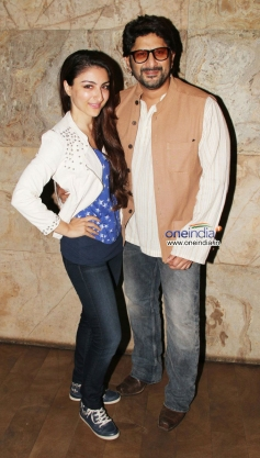 Soha Ali Khan and Arshad Warsi's film Mr Joe B Carvalho special screening