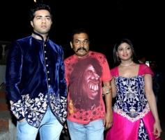 Celebs on the sets of Anuradha film song shoot