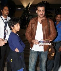 Sanjay Kapoor snapped at Mumbai Airport