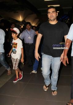 Arbaaz Khan snapped at Mumbai Airport