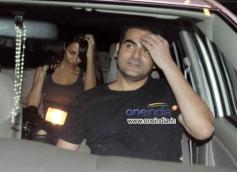 Arbaaz Khan and Malaika Arora Khan snapped at Mumbai Airport