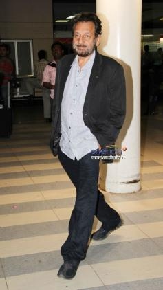 Shekhar Kapur snapped at Mumbai Airport
