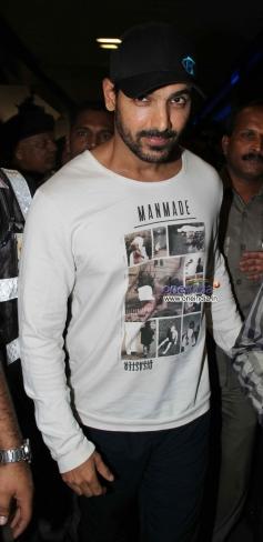 John Abraham snapped at Mumbai Airport