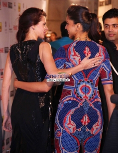 Kalki Koechlin and Deepika Padukone at the Filmfare Pre Awards Nominations Party 2014
