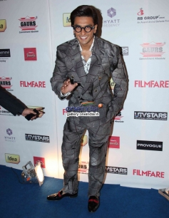 Ranveer Singh at the Filmfare Pre Awards Nominations Party 2014