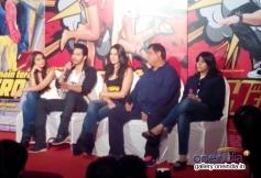 Ileana, Varun, Nargis and Ekta Kapoor at the Main Tera Hero film trailer launch