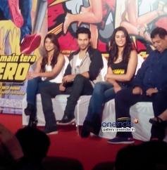 Ileana D'Cruz, Varun Dhawan and Nargis Fakhri at the Main Tera Hero film trailer launch