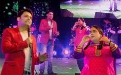 Comedian Kapil Sharma with Kiku Sharda perform at Saifai Mahotsav