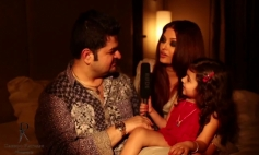 Dabboo Ratnani with Aishwarya Rai Bachchan on the sets of calender 2014 photoshoot